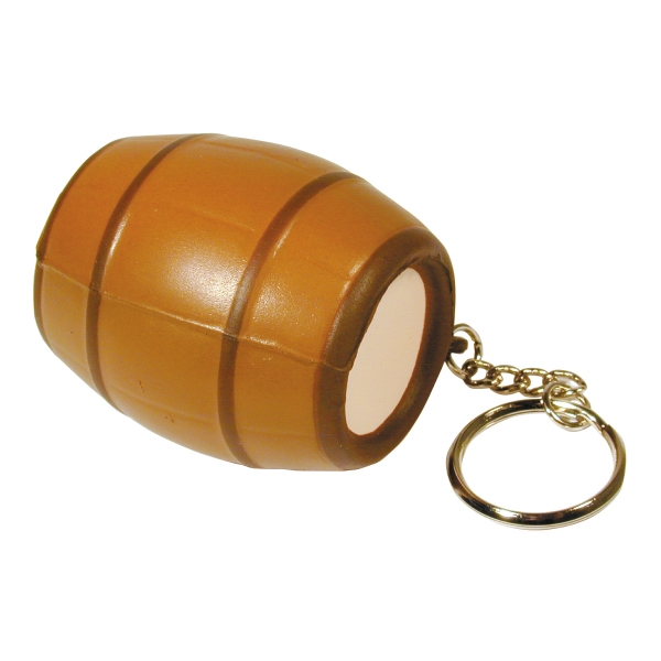 Customized Squeezies (R) barrel keyring stress reliever