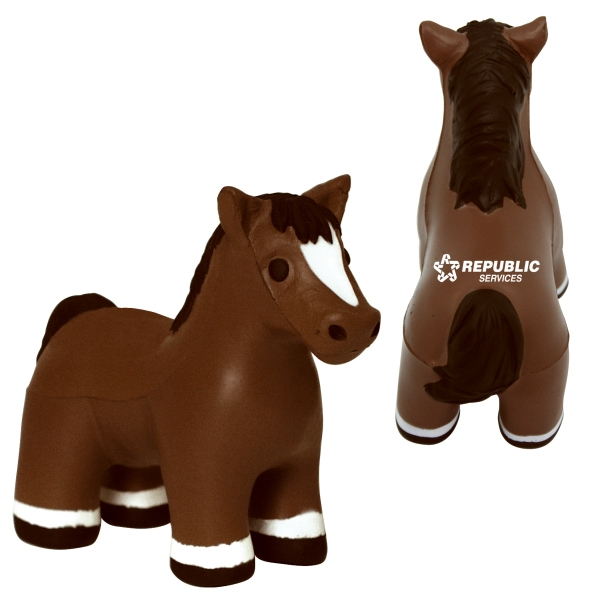 Custom Squeezies (R) horse (with sound) stress reliever