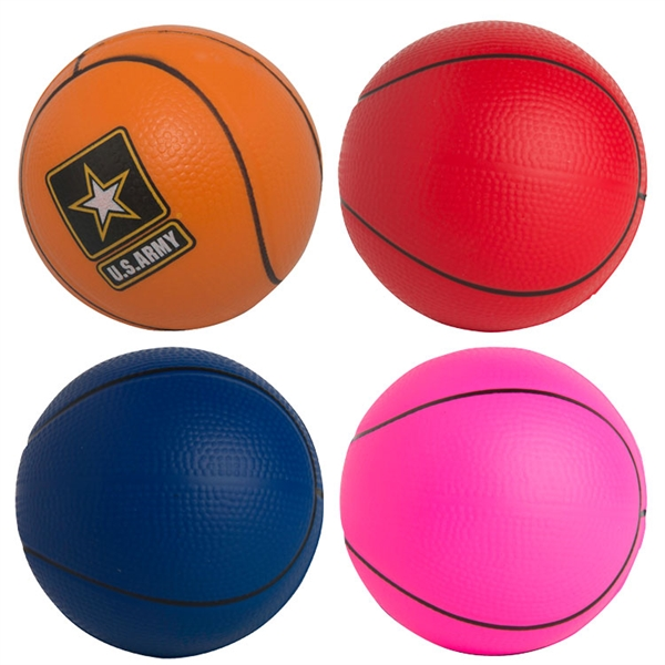 Customized Squeezies (R) basketball stress reliever