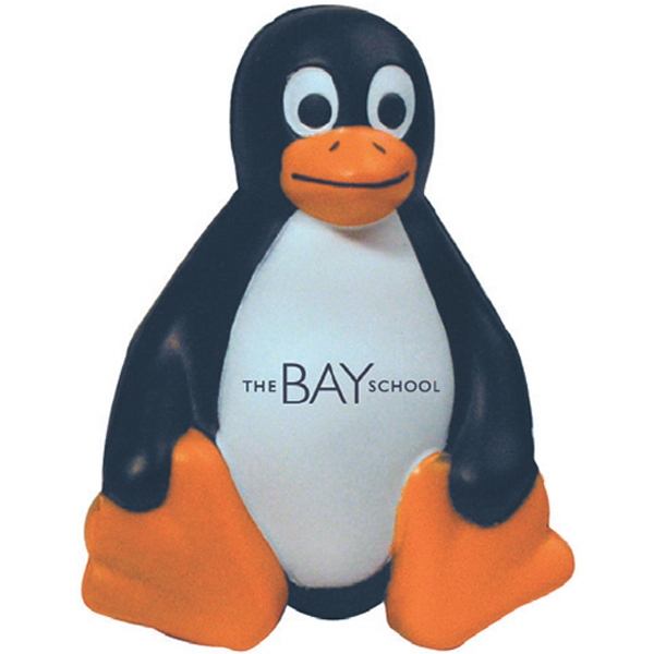 Personalized Squeezies (R) sitting penguin stress reliever
