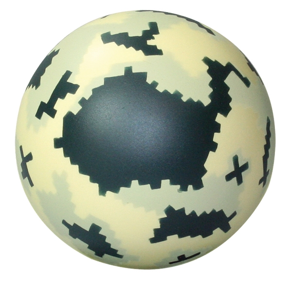 Promotional Squeezies (R) Digital camo ball stress reliever