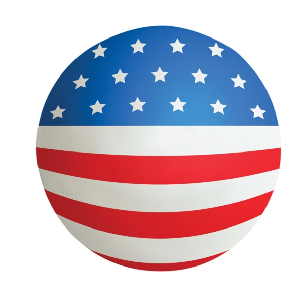 Personalized Squeezies (R) flag ball stress reliever