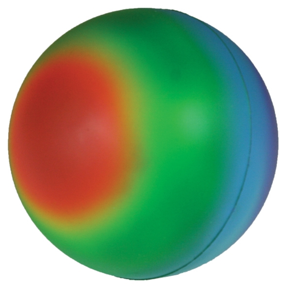 Imprinted Squeezies (R) rainbow ball stress reliever