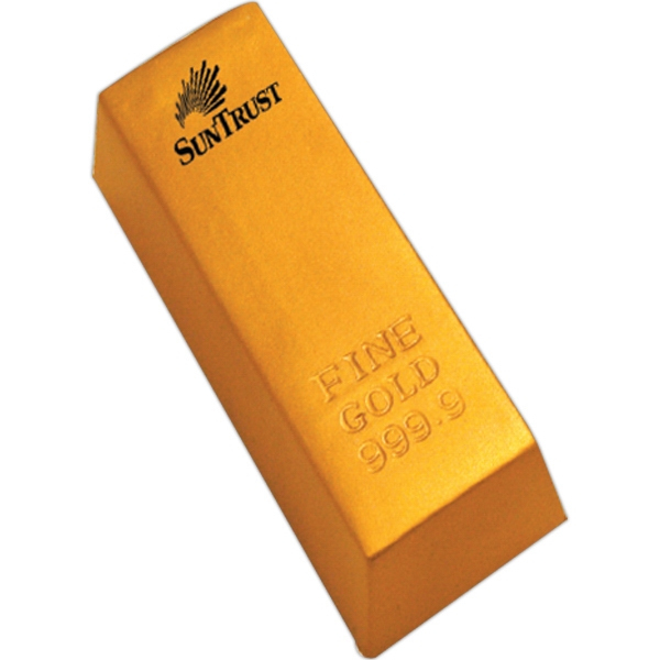 Personalized Squeezies (R) gold bar stress reliever