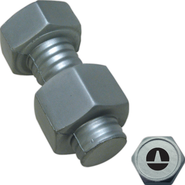 Promotional Squeezies (R) nut and bolt stress reliever