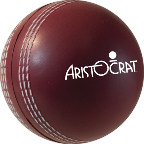 Custom Squeezies (R) cricket ball stress reliever