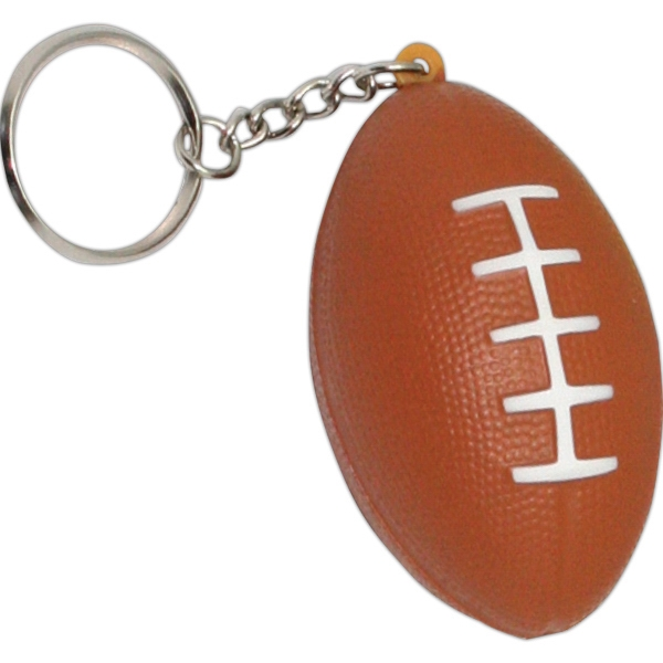 Personalized Squeezies (R) football keyring stress reliever