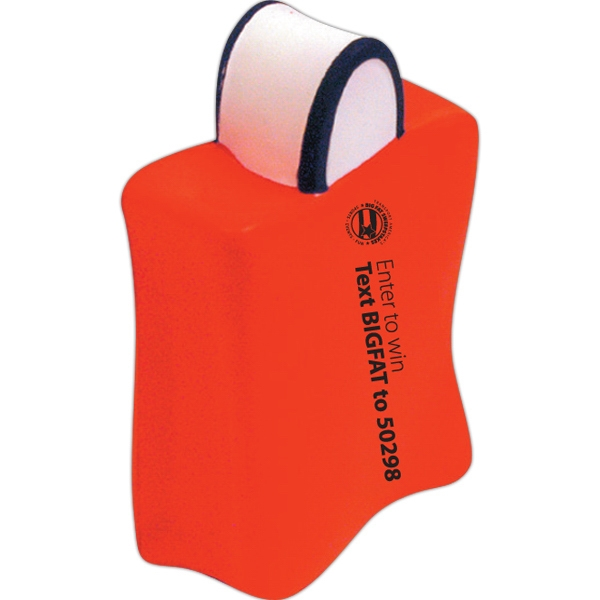 Imprinted Squeezies (R) shopping bag stress reliever