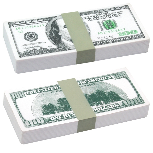Customized Squeezies (R) $100 bill stack stress reliever