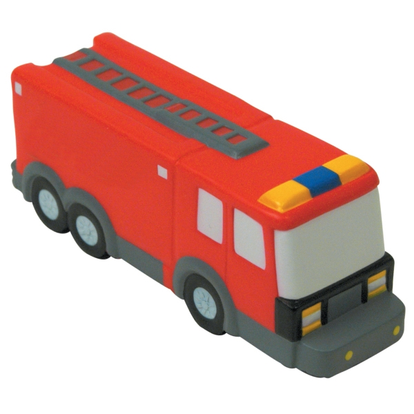 Custom Squeezies (R) fire truck stress reliever