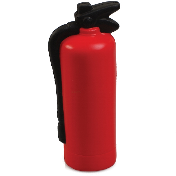Imprinted Squeezies (R) fire extinguisher stress reliever