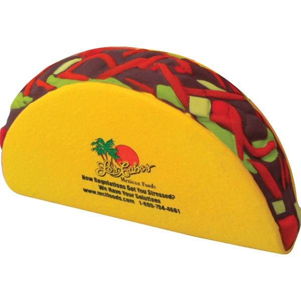 Imprinted Squeezies (R) taco stress reliever