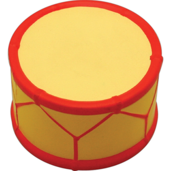 Imprinted Squeezies (R) drum stress reliever