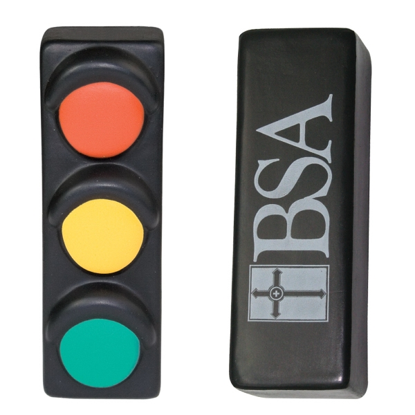 Imprinted Squeezies (R) traffic light stress reliever