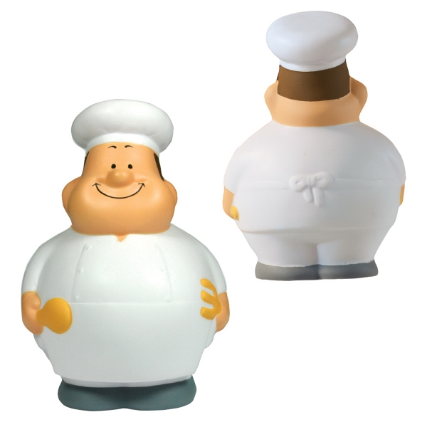 Personalized Squeezies (R) Chef Bert (TM) stress reliever