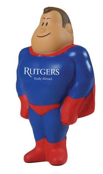 Printed Super Hero Squeezies (R) Stress Reliever