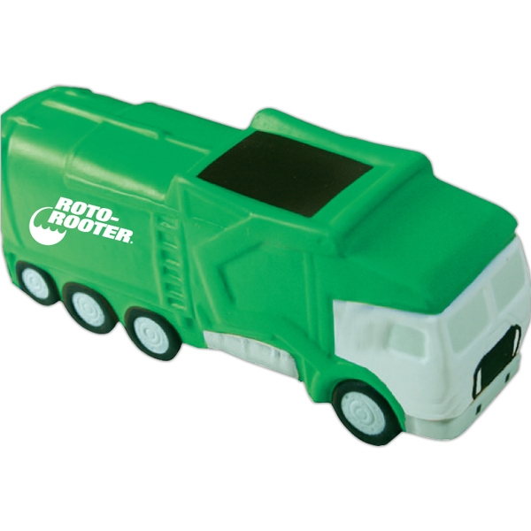 Personalized Squeezies (R) garbage truck stress reliever