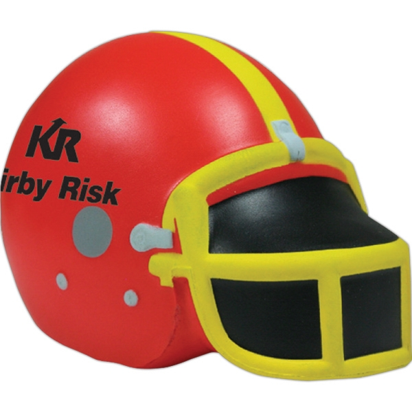 Printed Squeezies (R) football helmet stress reliever