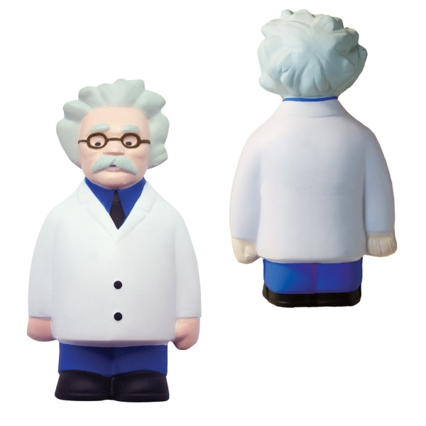 Imprinted Squeezies (R) scientist stress reliever