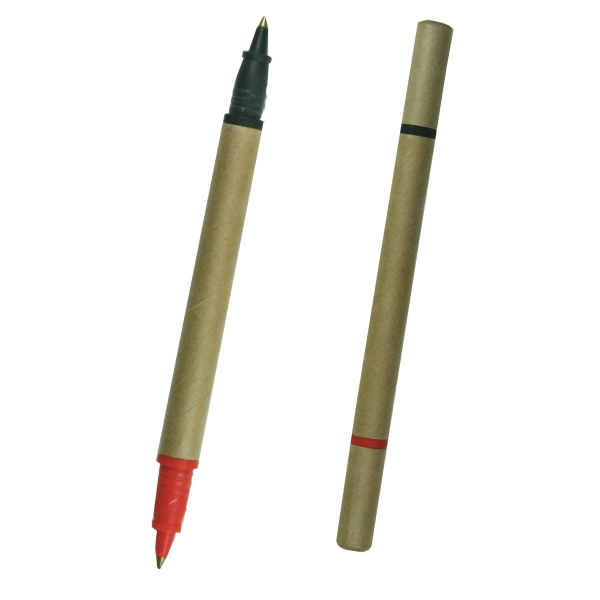 Imprinted Biodegradable two color pen