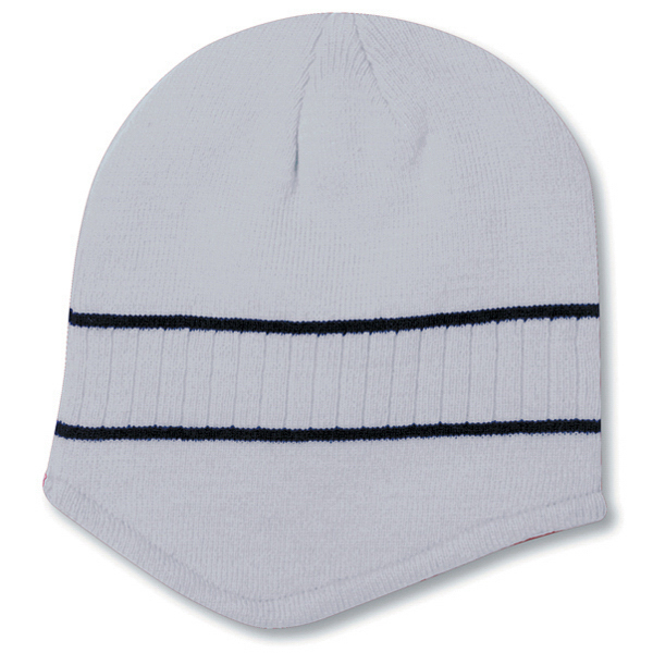 Imprinted Beanie with Stripes