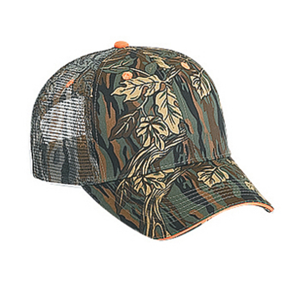 Customized Six Panel Low Profile Pro Style Mesh Cap