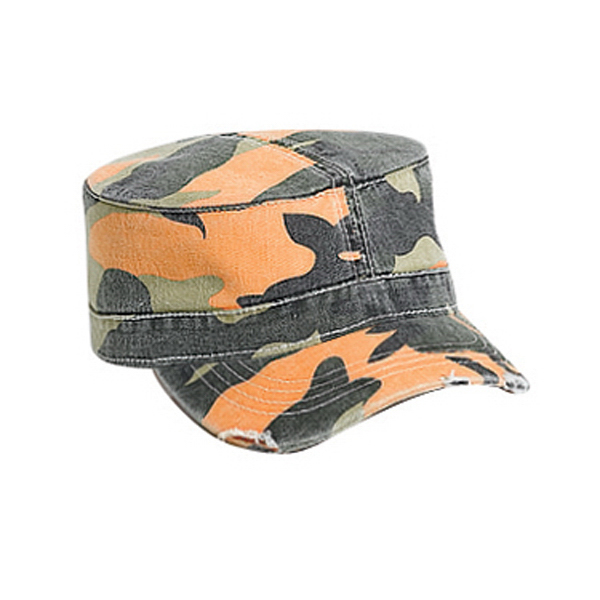 Imprinted Military Style Cap