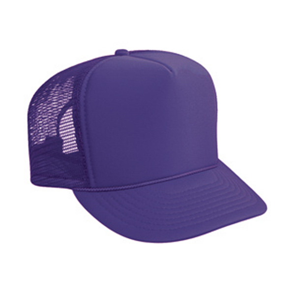 Imprinted High Crown Golf Style Mesh Back Cap