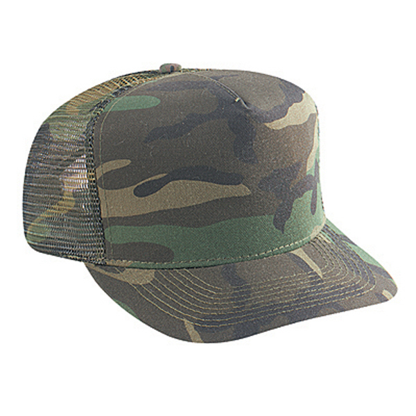 Imprinted Five Panel Low Crown Golf Style Mesh Back Cap