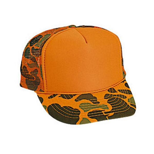 Personalized Five Panel High Crown Golf Style Mesh Back Cap