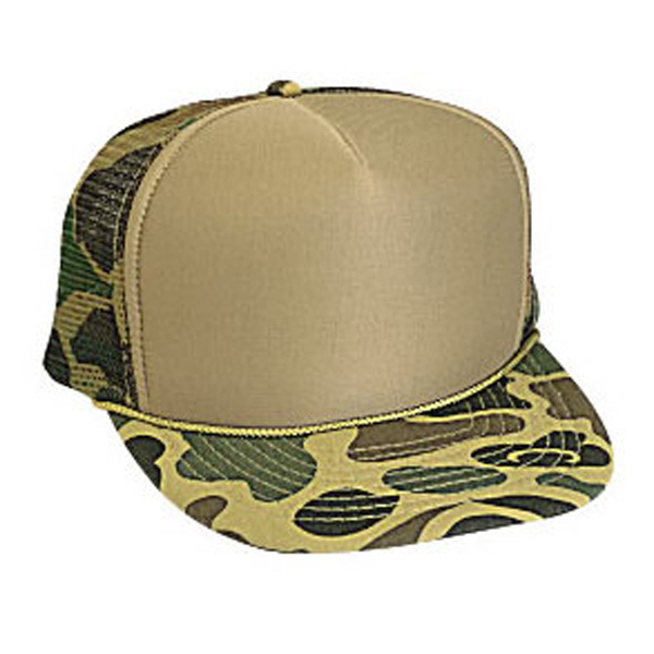 Custom Five Panel High Crown Golf Style Mesh Back Cap