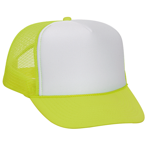 Promotional Five Panel High Crown Golf Style Mesh Back Cap