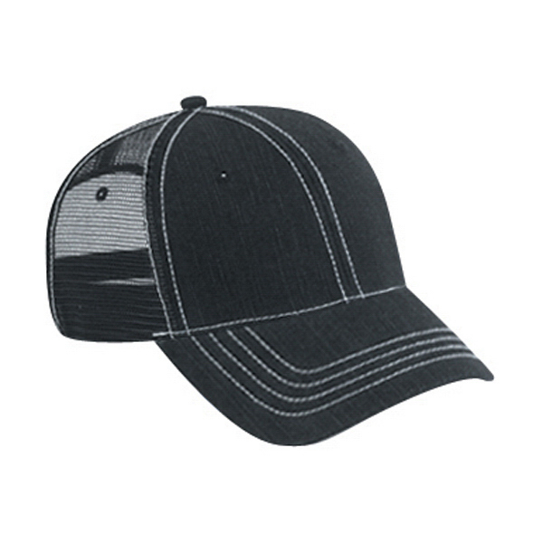 Printed Low Profile Pro Style Mesh Back Cap