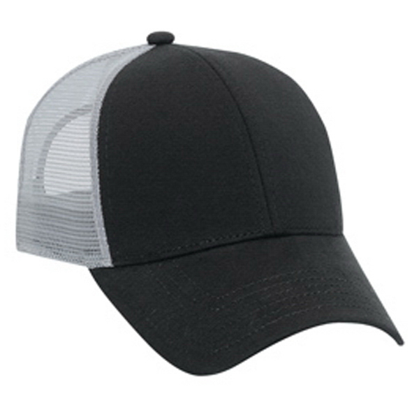 Imprinted Six Panel Low Profile Pro Style Mesh Cap