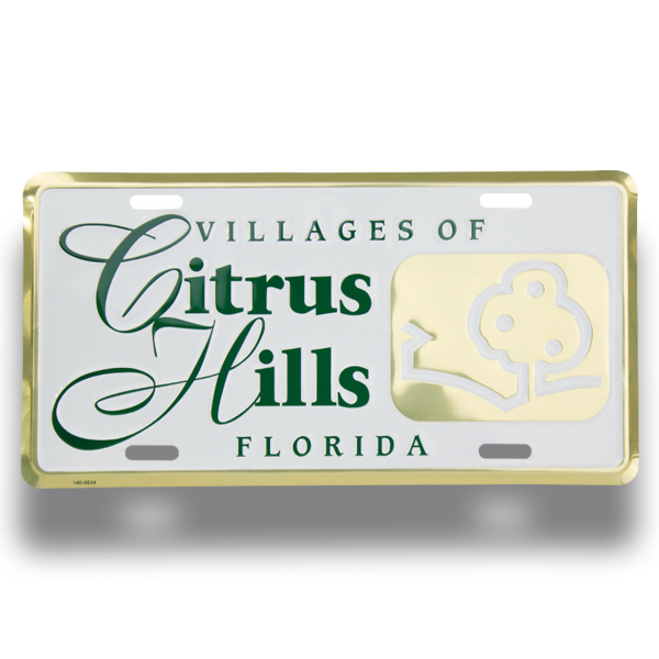 Printed Deluxe Embossed Aluminum License Plate