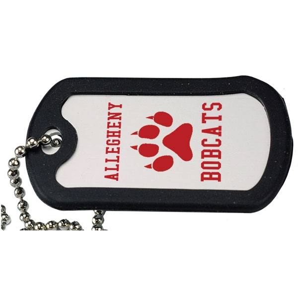 Custom Aluminum Dog Tag with Black Trim