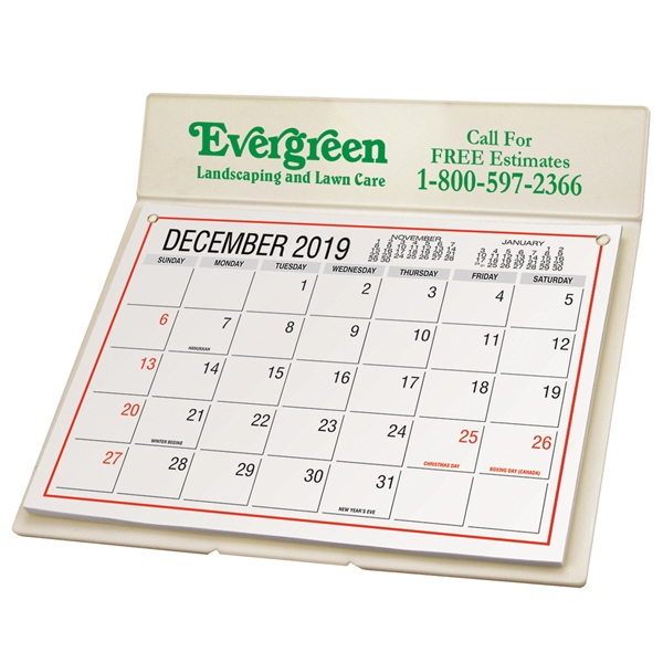 Imprinted Desk Calendar with Mailing Envelope