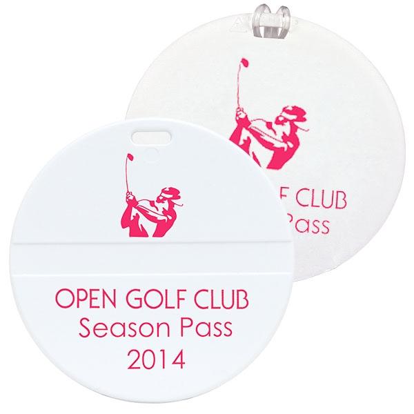 Imprinted Round Golf Bag Tag