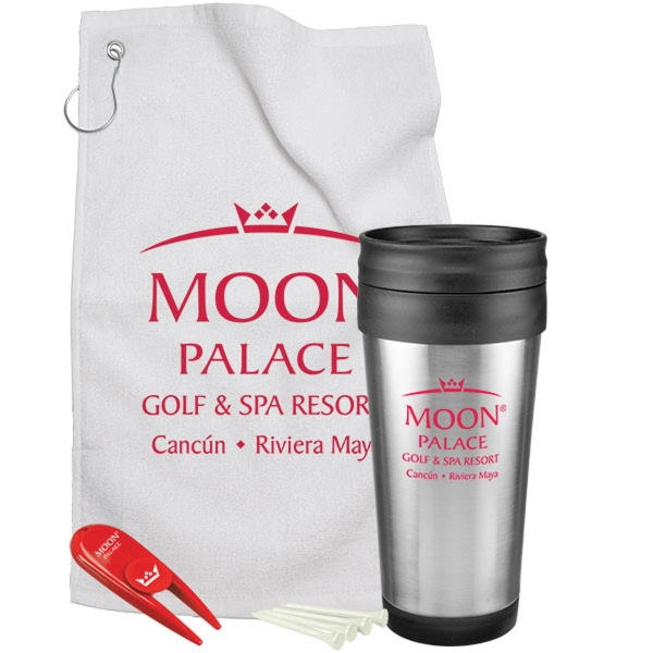 Promotional Steel Budget Tumbler Golf Gift Set