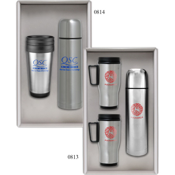 Printed Deluxe Stainless Steel Mug Gift Set