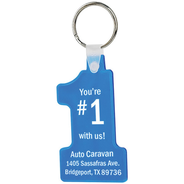 Promotional Number One Soft Keytag