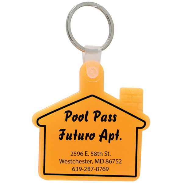 Personalized House Soft Keytag