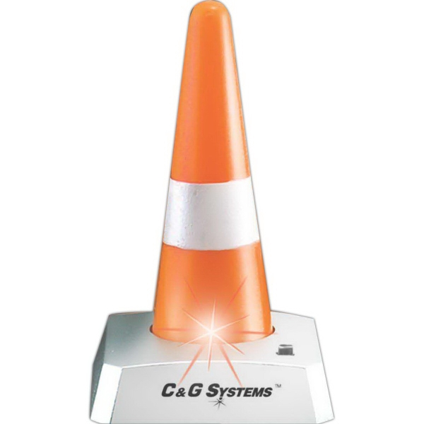 Printed Blinking Traffic Cone