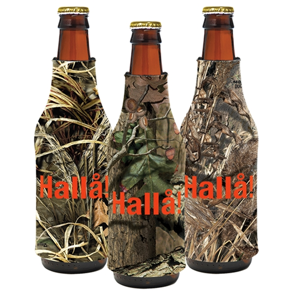 Customized Trademark Camo Bottle Coolie