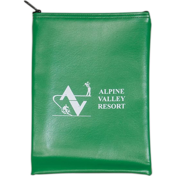 Promotional Vertical Expanded Vinyl Bank Bag
