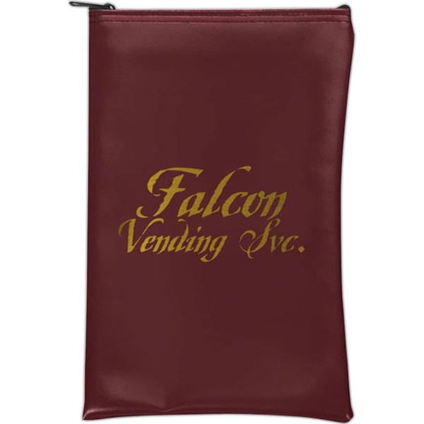 Imprinted Vertical Expanded Vinyl Bank Bag