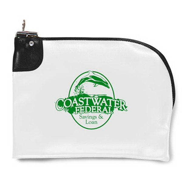 Custom Curved Zipper Locking Bank Bag
