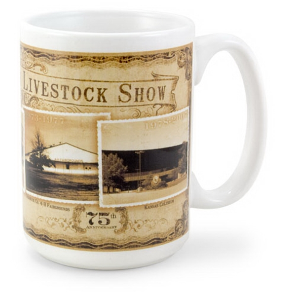 Imprinted White Sublimation Mug 15 oz.