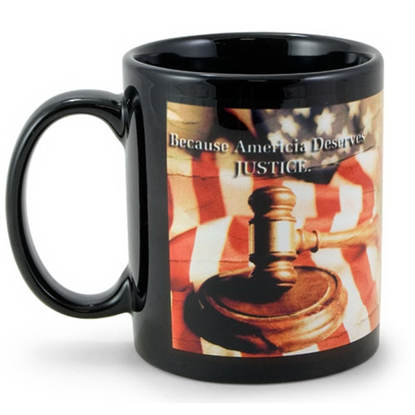 Customized Black Sublimation Mug 11 oz.