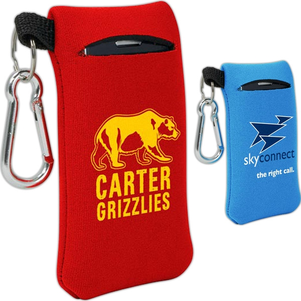 Promotional Small Mobile Accessory Device with Carabineer
